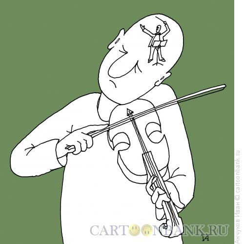 Карикатура: Скрипач, Анчуков Иван