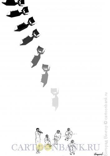Карикатура: Музыка и бомбы, Богорад Виктор