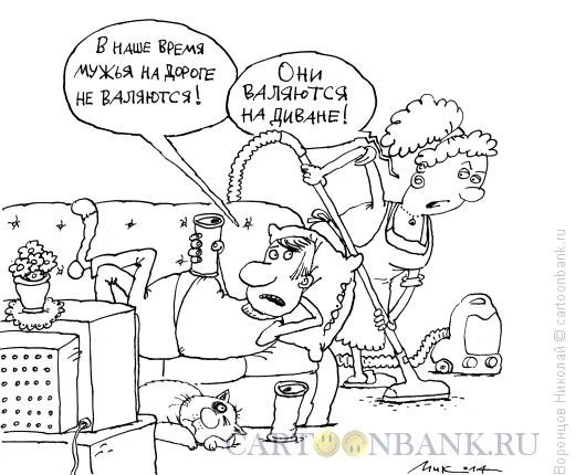 Карикатура: Муж, Воронцов Николай