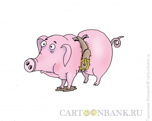 Карикатура: Тугой поясок, Тарасенко Валерий