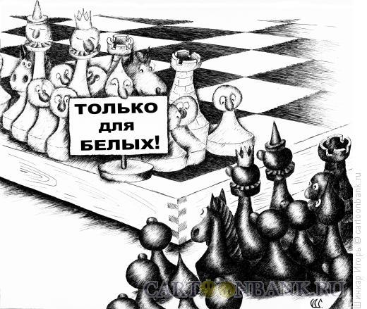 Карикатура: Только для белых, Шинкар Игорь