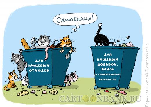 Карикатура: Самоубийца, Воронцов Николай