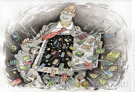 Карикатура: Утроба взяточника, Ашмарин Станислав