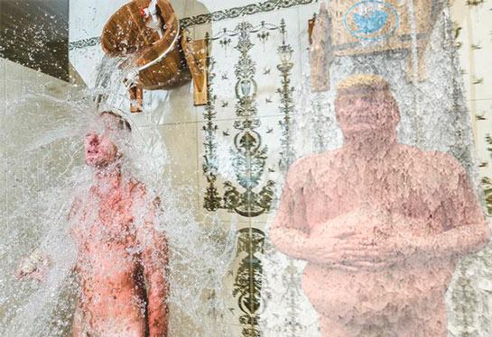Мем: Русская баня триумфально  шагает по планете