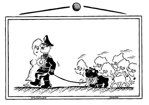 Карикатура: Любовь нечаянно нагр...адой, Giptopotam