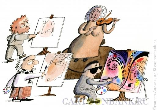 Карикатура: Портрет, Яковлев Александр