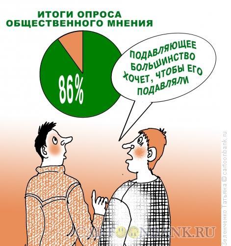 Карикатура: РЕЗУЛЬТАТЫ ОПРОСА, Зеленченко Татьяна