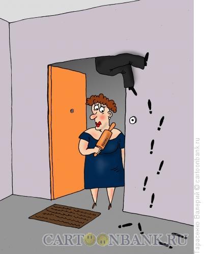 Карикатура: Просочился, Тарасенко Валерий
