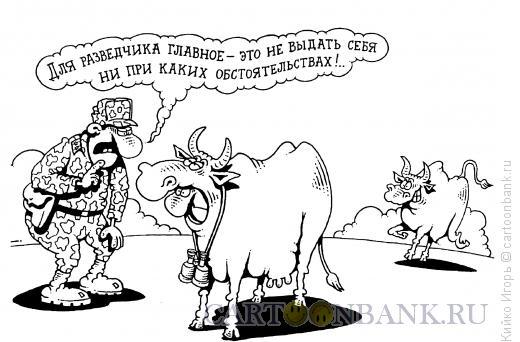 Карикатура: Разведчик, Кийко Игорь