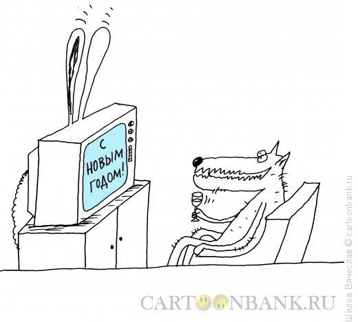 Карикатура: Год кролика, Шилов Вячеслав