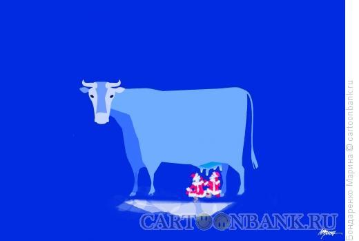Карикатура: Корова 2021, Бондаренко Марина
