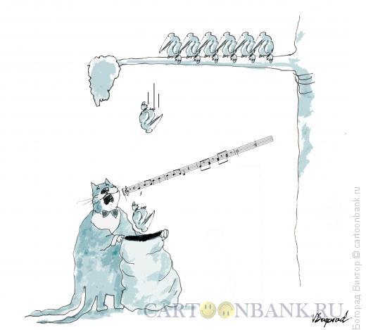 Карикатура: Завораживающее пение, Богорад Виктор