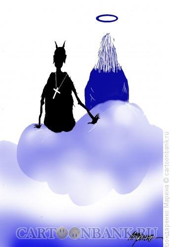Карикатура: Бог Бес Крест, Бондаренко Марина
