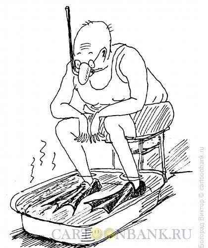 Карикатура: Отпуск на дому, Богорад Виктор