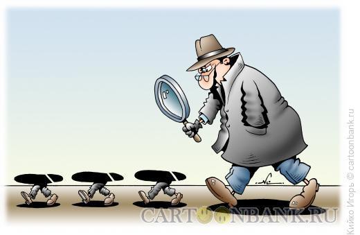 Карикатура: Сыщик, Кийко Игорь