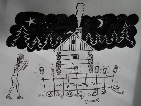 Карикатура: К бабе Яге, Петров Александр