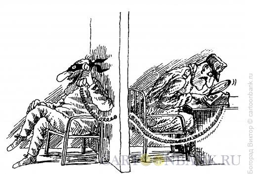 Карикатура: Надзор, Богорад Виктор