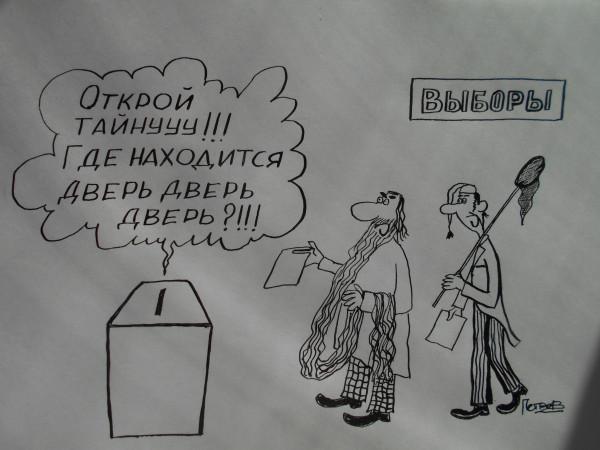 Карикатура: Выборы  и Буратино, Петров Александр