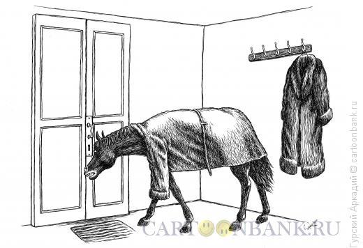 Карикатура: лошадь, Гурский Аркадий