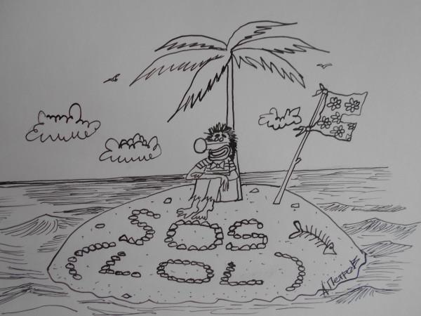 Карикатура: Робинзон клоун, Петров Александр