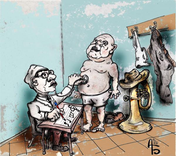 Карикатура: Профзаболевание, backdanov
