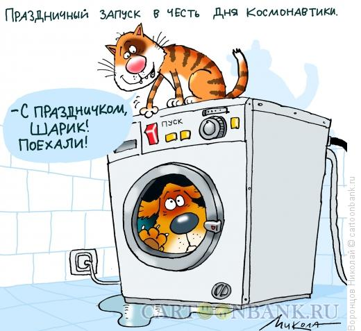 Карикатура: День космонавтики, Воронцов Николай