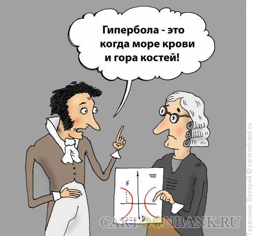 Карикатура: Гипербола, Тарасенко Валерий