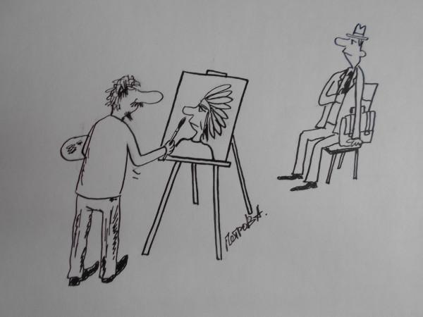 Карикатура: Портрет вождя, Петров Александр