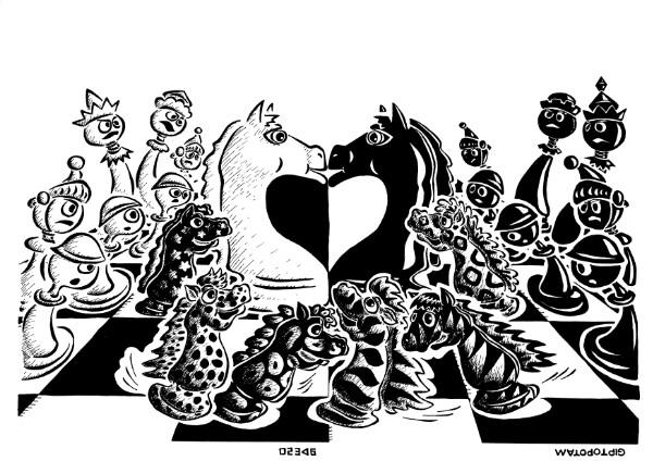 Карикатура: Пёстрый табун, Giptopotam