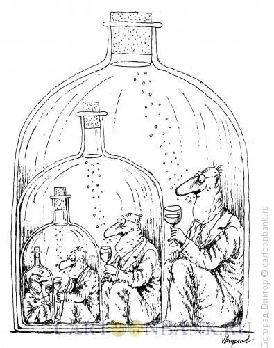 Карикатура: В бутылках, Богорад Виктор