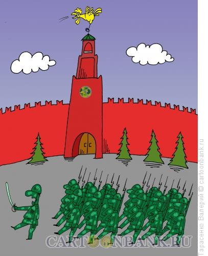 Карикатура: Золотой петушок, Тарасенко Валерий