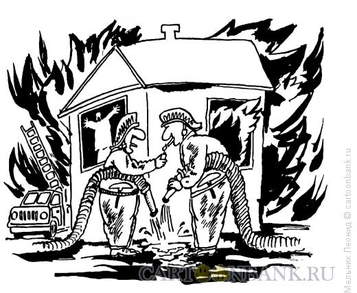 Карикатура: Закуривай ребята, Мельник Леонид