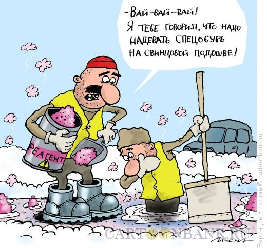 Карикатура: Реагент, Воронцов Николай
