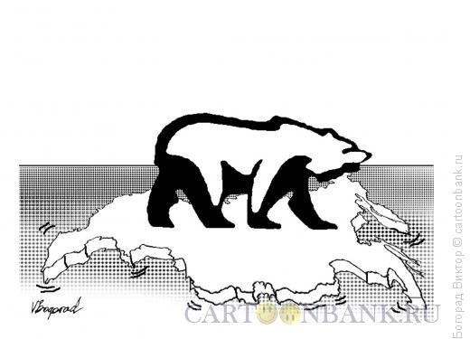 Карикатура: Медведь на льдине 2, Богорад Виктор