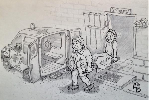 Карикатура: Оптимизация медицины, backdanov