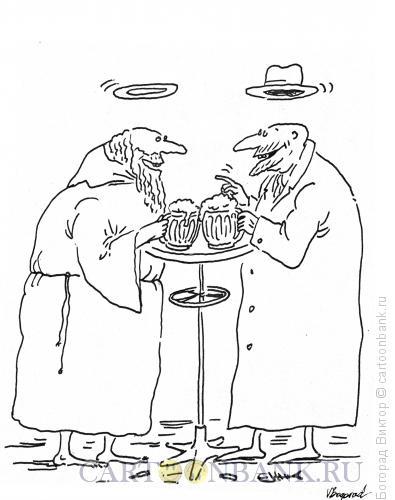 Карикатура: Разговор со святым, Богорад Виктор