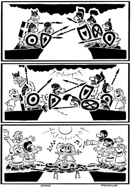 Карикатура: Война и мир, Giptopotam