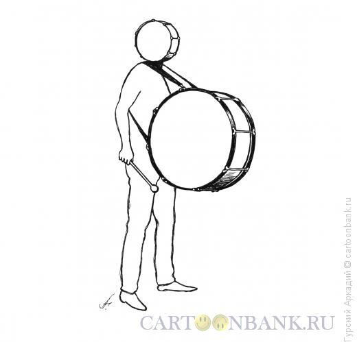 Карикатура: барабанщик, Гурский Аркадий