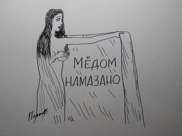 Карикатура: Женщина с покрывалом 46, Петров Александр