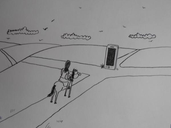 Карикатура: Девушка на распутье, Петров Александр