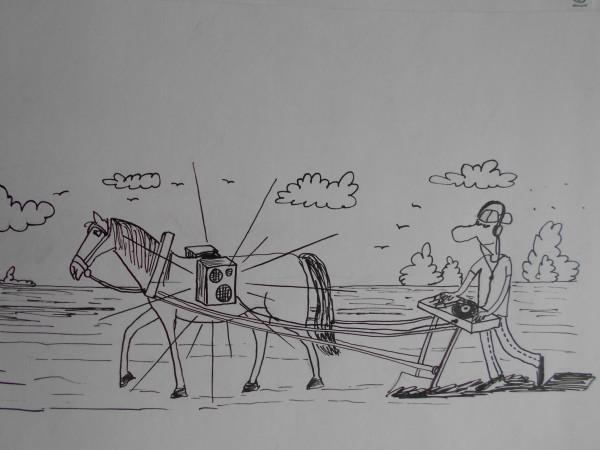 Карикатура: С вами был ди джей Отстой, Петров Александр