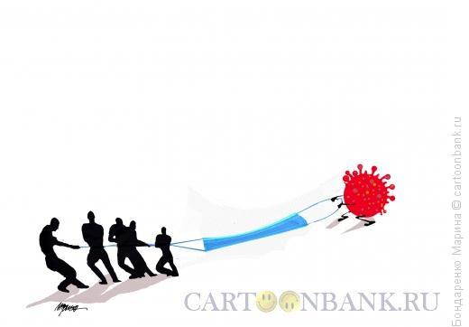 Карикатура: Коронавирус, МАСКА, Канат, Бондаренко Марина