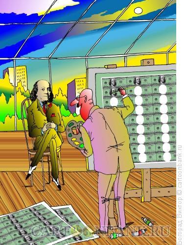 Карикатура: Портрет Франклина, Богорад Виктор