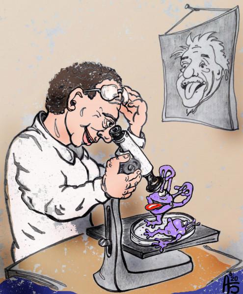 Карикатура: Интересное открытие, backdanov