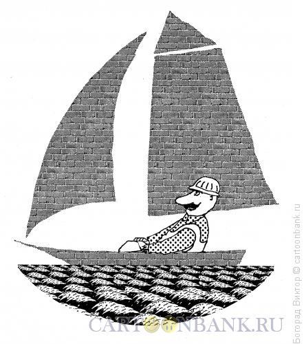Карикатура: Отдых строителя, Богорад Виктор