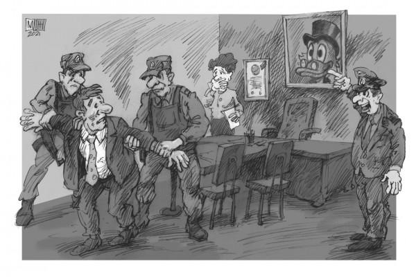 Карикатура: Иностранный агент, Михаил Жилкин