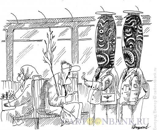 Карикатура: Страшные контролеры, Богорад Виктор