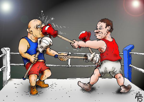 Карикатура: Соблюдая дистанцию, backdanov