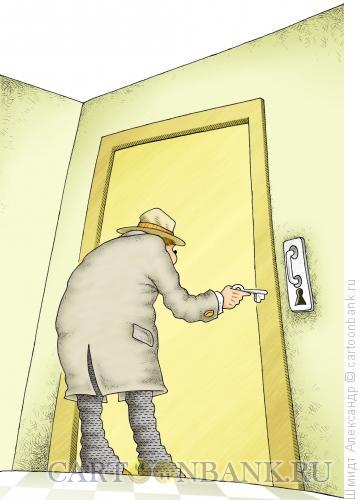 Карикатура: Дверь, Шмидт Александр