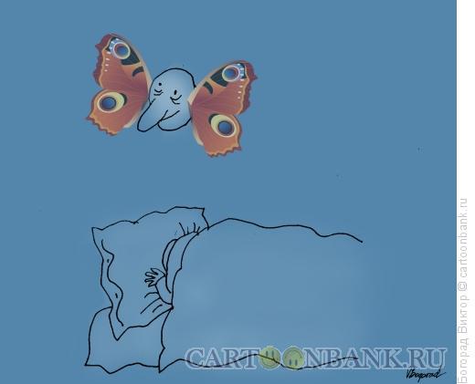 Карикатура: Полеты во сне, Богорад Виктор